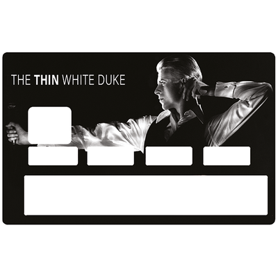 Sticker décoratif pour carte bancaire, DAVID BOWIE, The Thin white duke