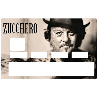 Sticker pour carte bancaire, Tribute to ZUCCHERO, limited edition 100 ex.