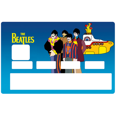 Sticker pour carte bancaire, Tribute to THE BEATLES Yellow submarine