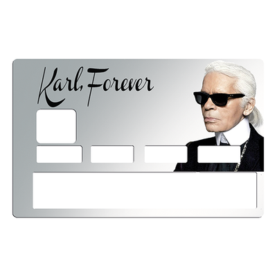 Sticker pour carte bancaire, Tribute to karl Lagerfeld Forever, limited edition 100 ex.