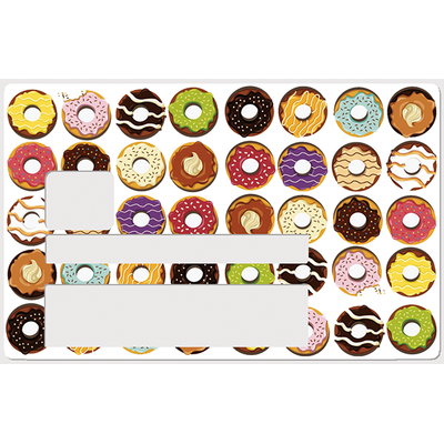 Donuts, Sticker pour carte bancaire type ELECTRON