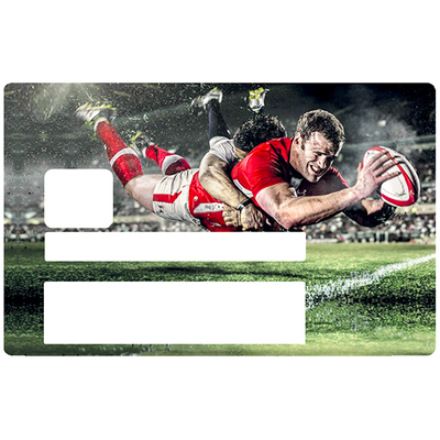 RUGBY, Sticker pour carte bancaire type ELECTRON