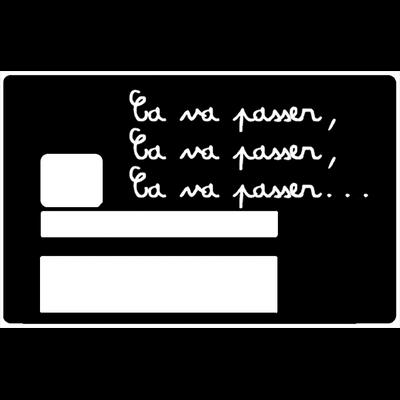 Ca va passer, Sticker pour carte bancaire type ELECTRON