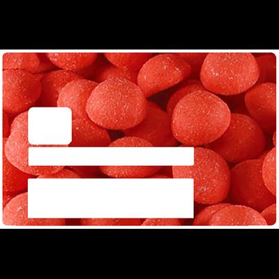 Fraise Tagada, Sticker pour carte bancaire type ELECTRON