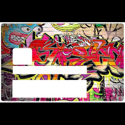 Graffiti Wall, Sticker pour carte bancaire type ELECTRON