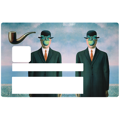 Hommage a Magritte, Sticker pour carte bancaire type ELECTRON