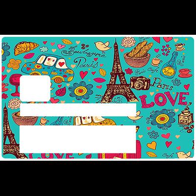 Paris sera toujours Paris, Sticker pour carte bancaire type ELECTRON