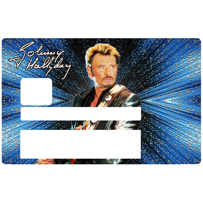 Johnny Hallyday, Sticker pour carte bancaire type ELECTRON
