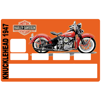 Sticker pour carte bancaire, Tribute to Harley Davidson KNUCKLEHEAD 1947