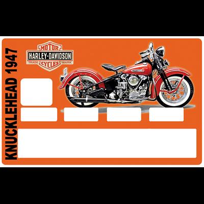 Sticker pour carte bancaire, hommage à Harley Davidson KNUCKLEHEAD 1947