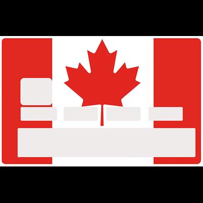 Sticker pour carte bancaire, Drapeau du CANADA