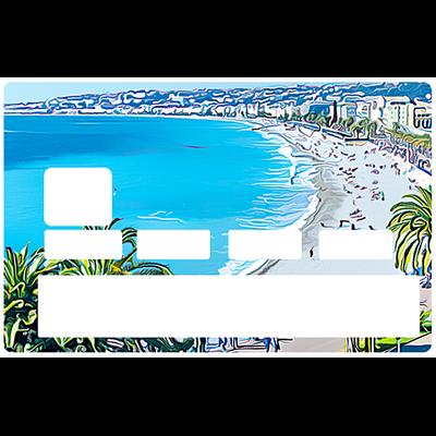 Sticker pour carte bancaire, NICE, la baie des Anges