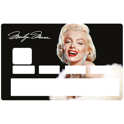 Sticker pour carte bancaire, Beautiful Marilyn Monroe