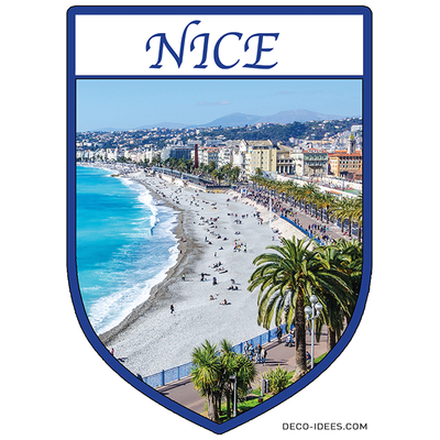Sticker, Blason de NICE baie des anges