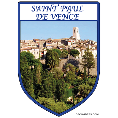 Sticker, Blason de SAINT PAUL DE VENCE