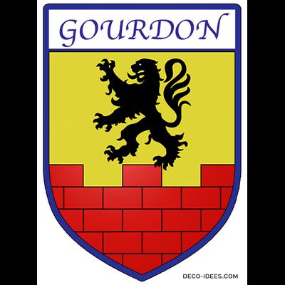 Sticker, Blason de GOURDON