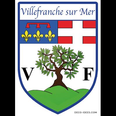 Sticker, Blason de VILLEFRANCHE SUR MER