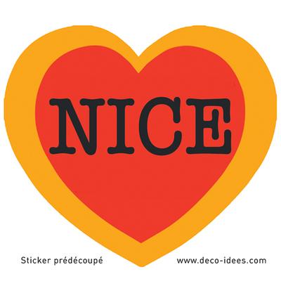 Sticker Le Coeur de NICE
