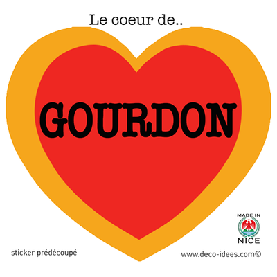 Sticker Le Coeur de  GOURDON