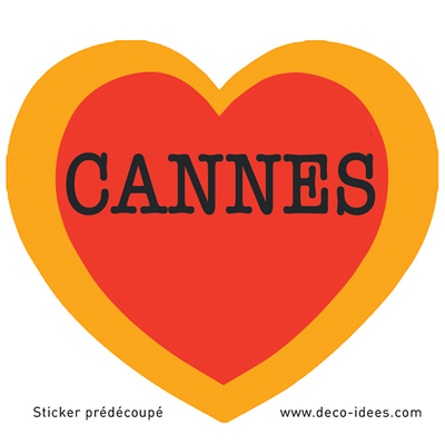 Sticker Le Coeur de CANNES