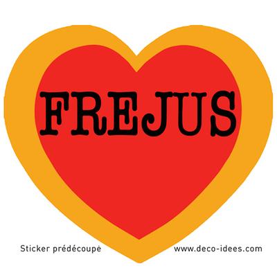 Sticker Le Coeur de FREJUS