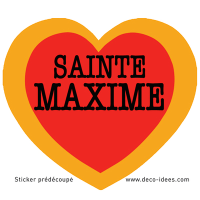 Sticker Le Coeur de SAINTE MAXIME