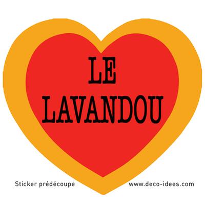 Sticker Le Coeur du LAVANDOU