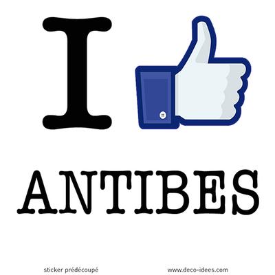 Sticker I LIKE ANTIBES