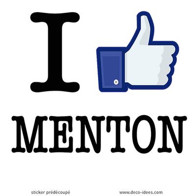 Sticker I LIKE MENTON