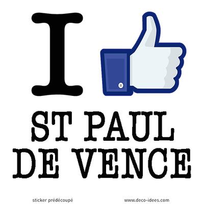 Sticker I LIKE SAINT PAUL DE VENCE