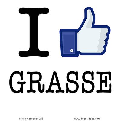 Sticker I LIKE GRASSE