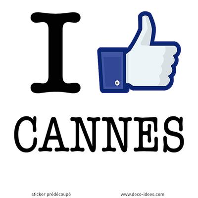Sticker I LIKE CANNES