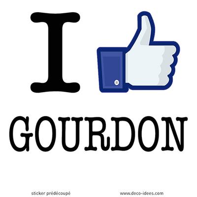 Sticker I LIKE GOURDON