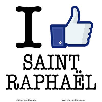 Sticker I LIKE SAINT RAPHAEL