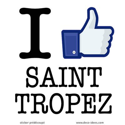 Sticker I LIKE SAINT TROPEZ
