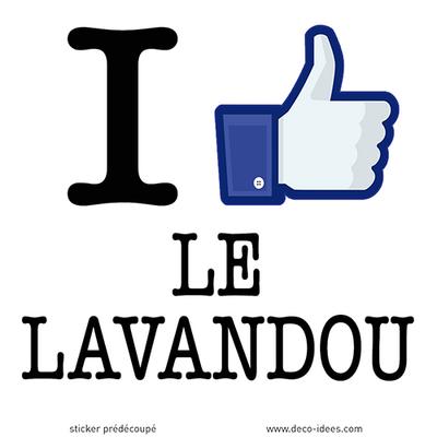 Sticker I LIKE LE LAVANDOU