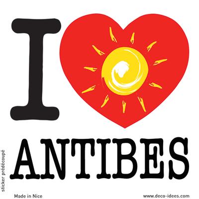 Sticker I LOVE le soleil d'ANTIBES