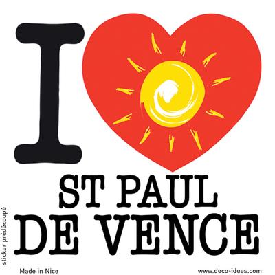 Sticker I LOVE le soleil de St PAUL DE VENCE