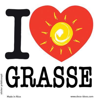 Sticker I LOVE le soleil de GRASSE