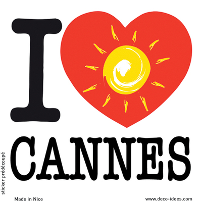 Sticker I LOVE le soleil de CANNES