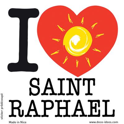 Sticker I LOVE le soleil de SAINT RAPHAEL