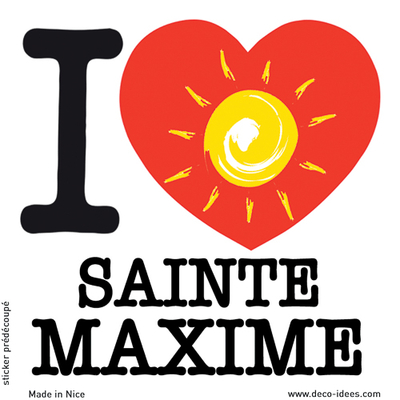 Sticker I LOVE le soleil de SAINTE MAXIME
