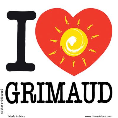 Sticker I LOVE le soleil de GRIMAUD