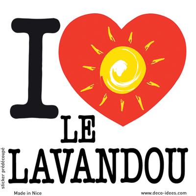Sticker I LOVE le soleil du LAVANDOU