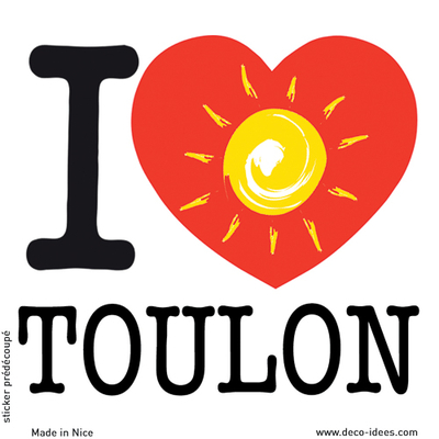 Sticker I LOVE le soleil de TOULON