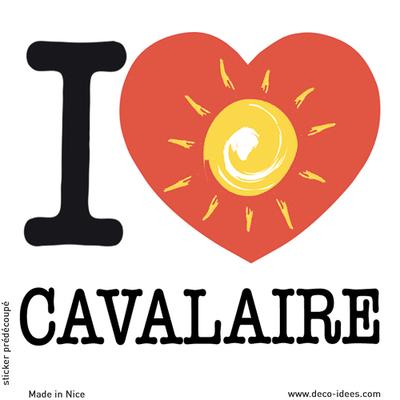 Sticker I LOVE le soleil de CAVALAIRE
