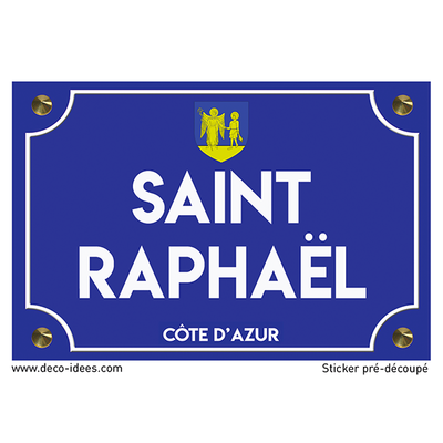 Sticker plaque de rue, SAINT RAPHAËL