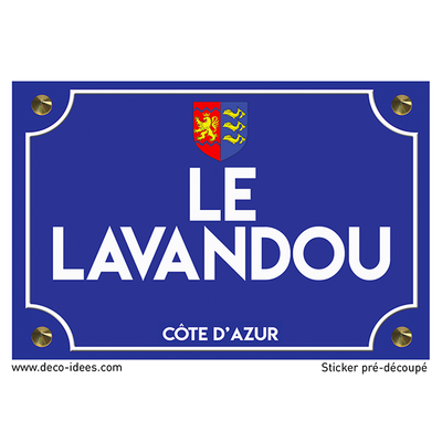 Sticker plaque de rue, LE LAVANDOU