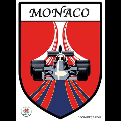 Sticker blason de ville MONACO Formule 1