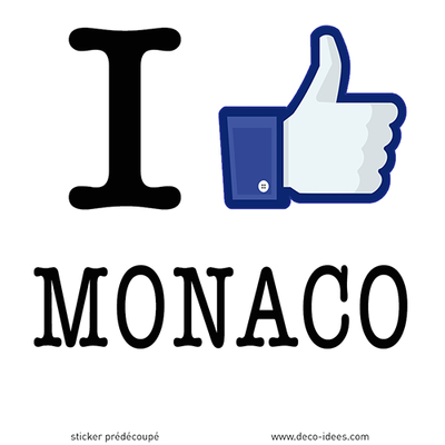 Sticker I LIKE MONACO